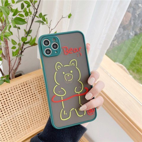 Ốp Lưng Silicone Bear Cute Cho iPhone X/Xs