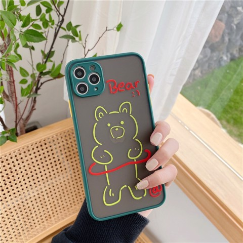 Ốp Lưng Silicone Bear Cute Cho iPhone 11 Pro