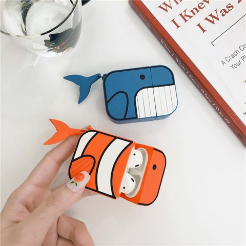 Case Airpods Nemo And Blue Whale chống rớt