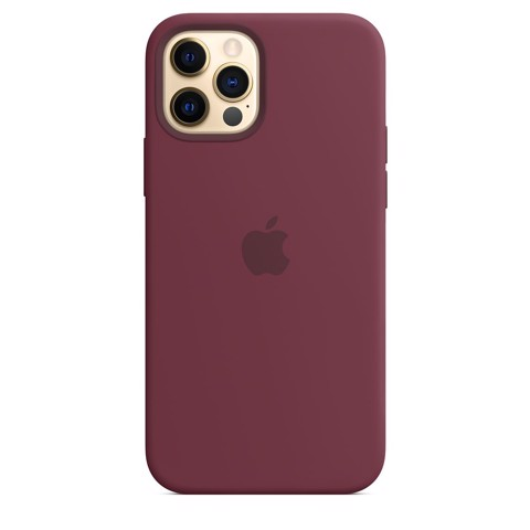 Ốp Silicone Case with MagSafe Iphone 12 Pro - Plum