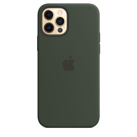 Ốp Silicone Case with MagSafe Iphone 12 Pro - Cyprus Green
