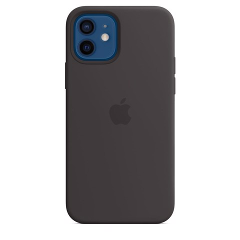 Ốp Silicone Case with MagSafe Iphone 12 - Black