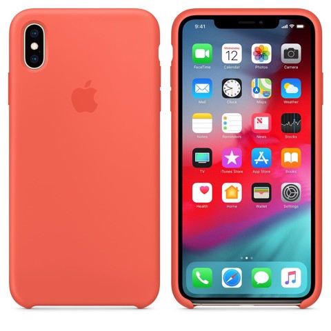 iPhone XS Silicone Case - Nectarine