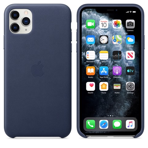 Ốp Leather Chính Hãng Apple Midnight Blue cho iPhone 11 Pro Max
