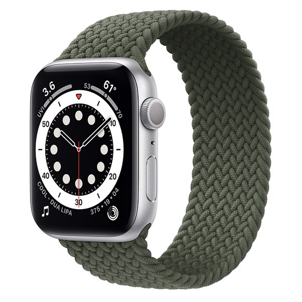 Apple Watch Series 6 44mm Nhôm Trắng Dây Braided Solo Loop M02D3
