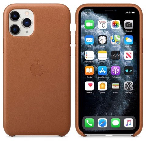 Ốp Leather Chính Hãng Apple Saddle Brown cho IPhone 11 Pro