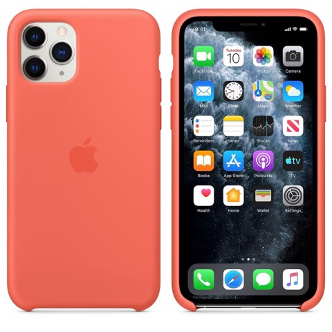Ốp Silicon Chính Hãng Apple Orange cho IPhone 11 Pro Max