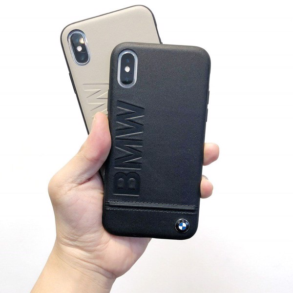 Ốp Lưng BMW Leather Cao Cấp Cho iPhone X/Xs