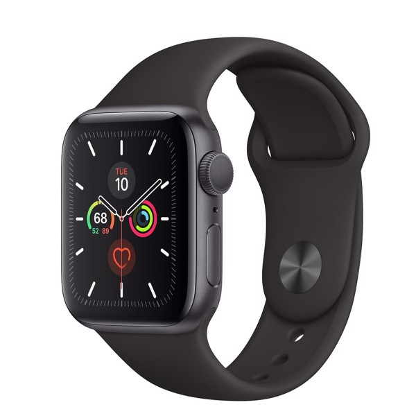Apple Watch 5 40mm Gray (GPS) Viền Nhôm - Dây Đen (MWV82)
