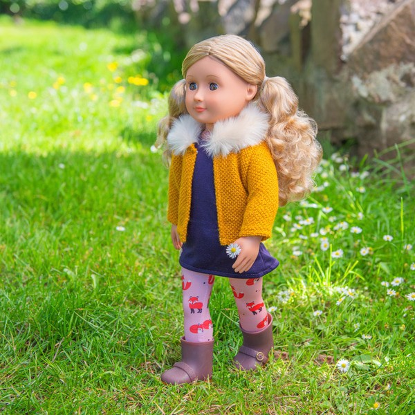Florence Doll With Fox Tights And Vest