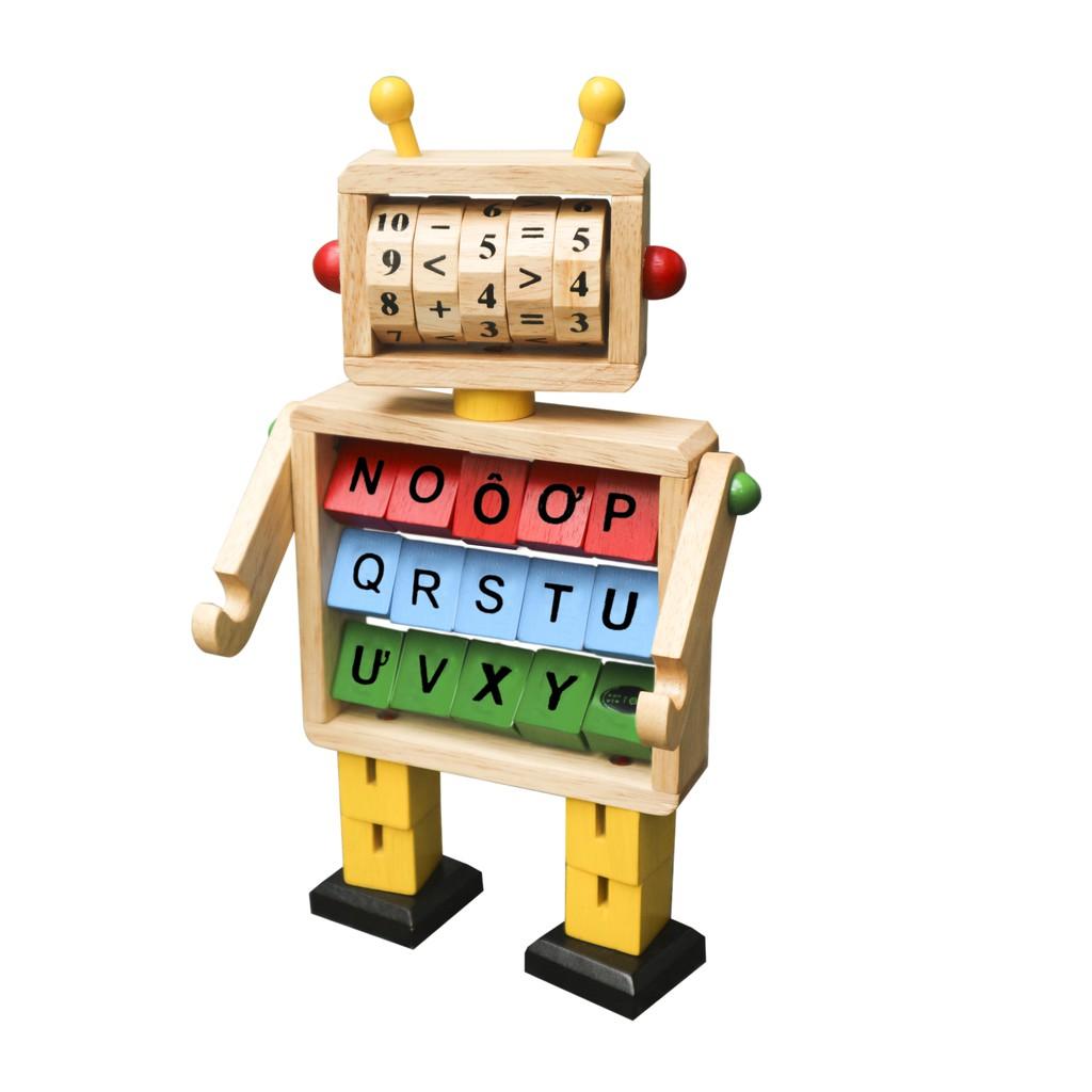 Robot học toán và chữ cái.