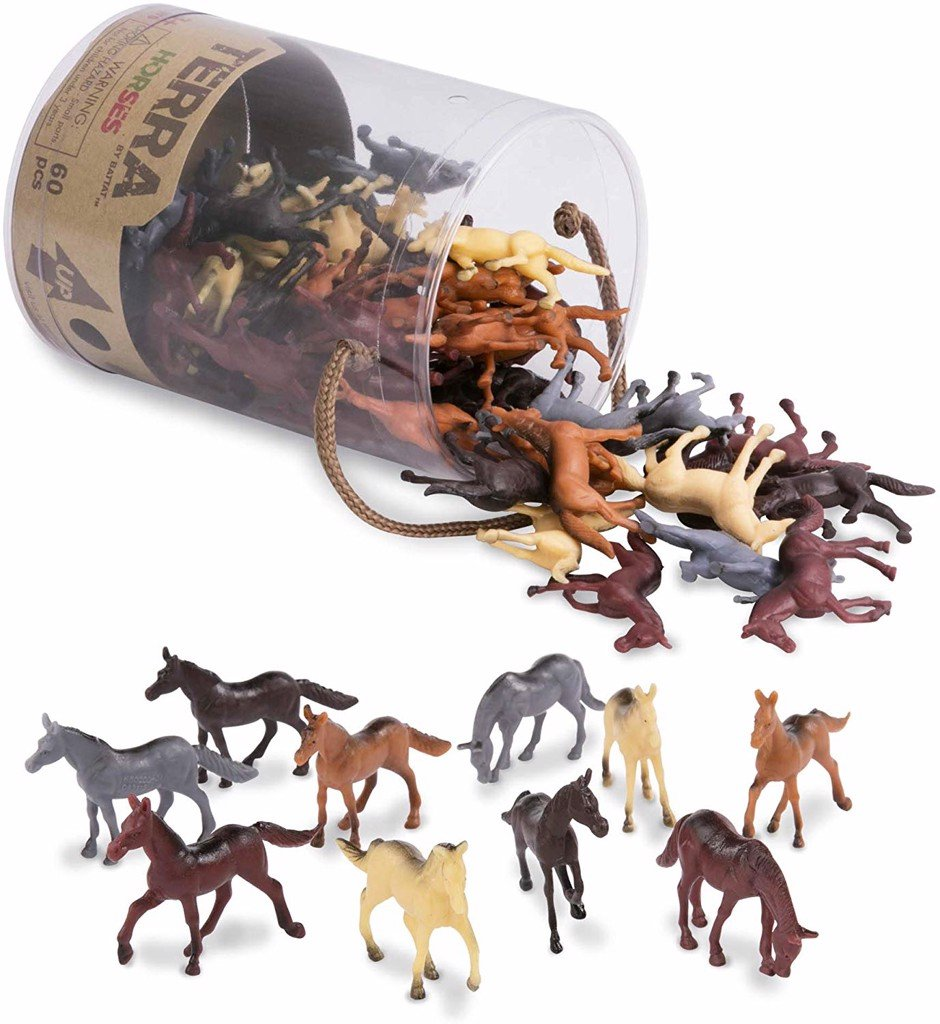 Horses Toy in a Tube (60-Piece)