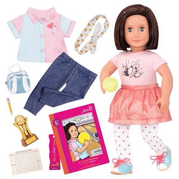 Everly Doll - Deluxe Bowling W/ Book