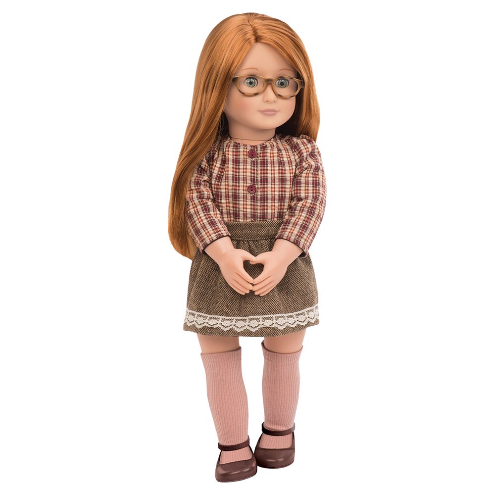 April Doll W/ Plaid Shirt & Skirt