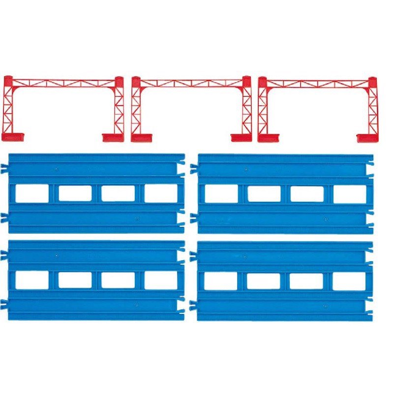 R-04 Double-tracked Straight Rail (4 pieces)