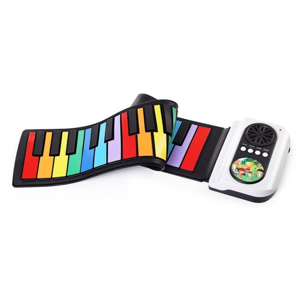 37 Keys Roll Up Piano with record funtion (Rainbow color)