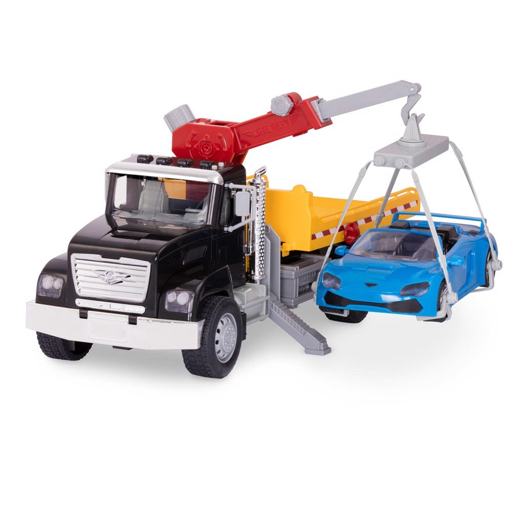 Driven tow truck