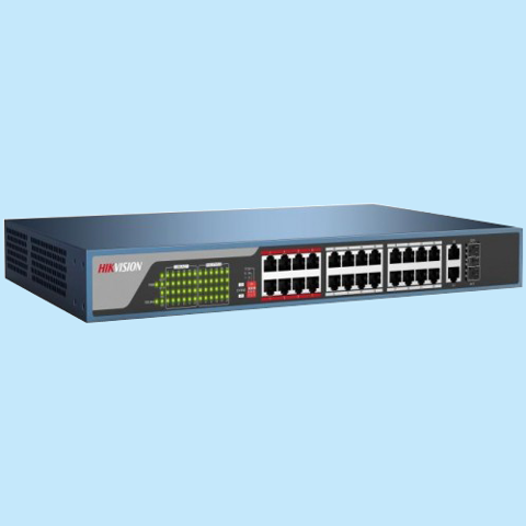 DS-3E0326P-E: 24-port 10/100Mbps PoE Switch HIKVISION DS-3E0326P-E