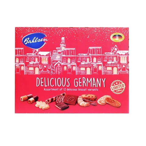 Hộp Bánh Bahlsen Selection Delicious Germany Châu Âu 250Gr