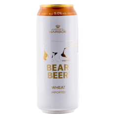 Bia Harboe Bear Beer Wheat Imported 5% Đức 500ml