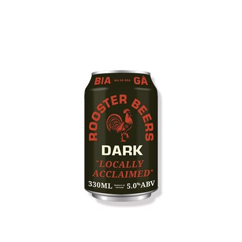 Bia Gà Dark Rooster Beers Dark 330ml
