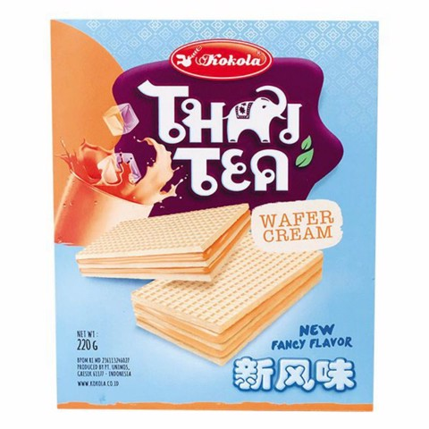 Bánh Xốp Majestic Thai Tea Wafer Cream Kokola Indonesia 220gr