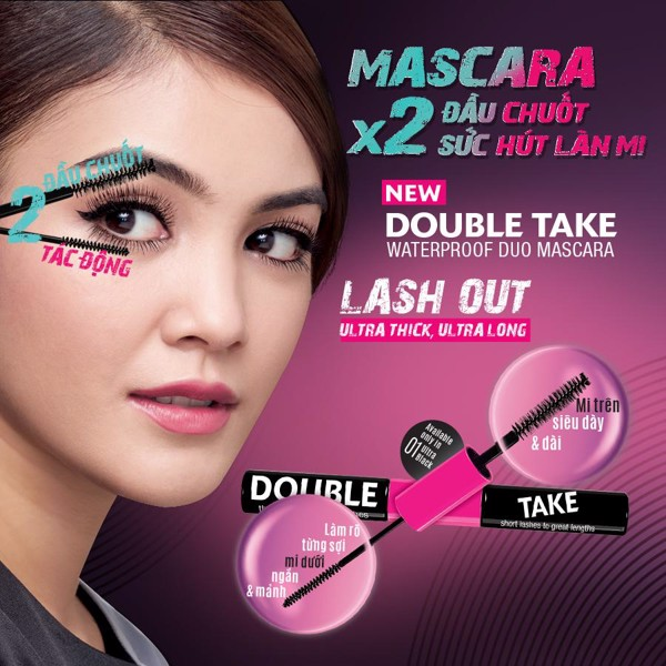Chuốt Mi 2 Đầu SILKYGIRL Double Take Waterproof Duo Mascara