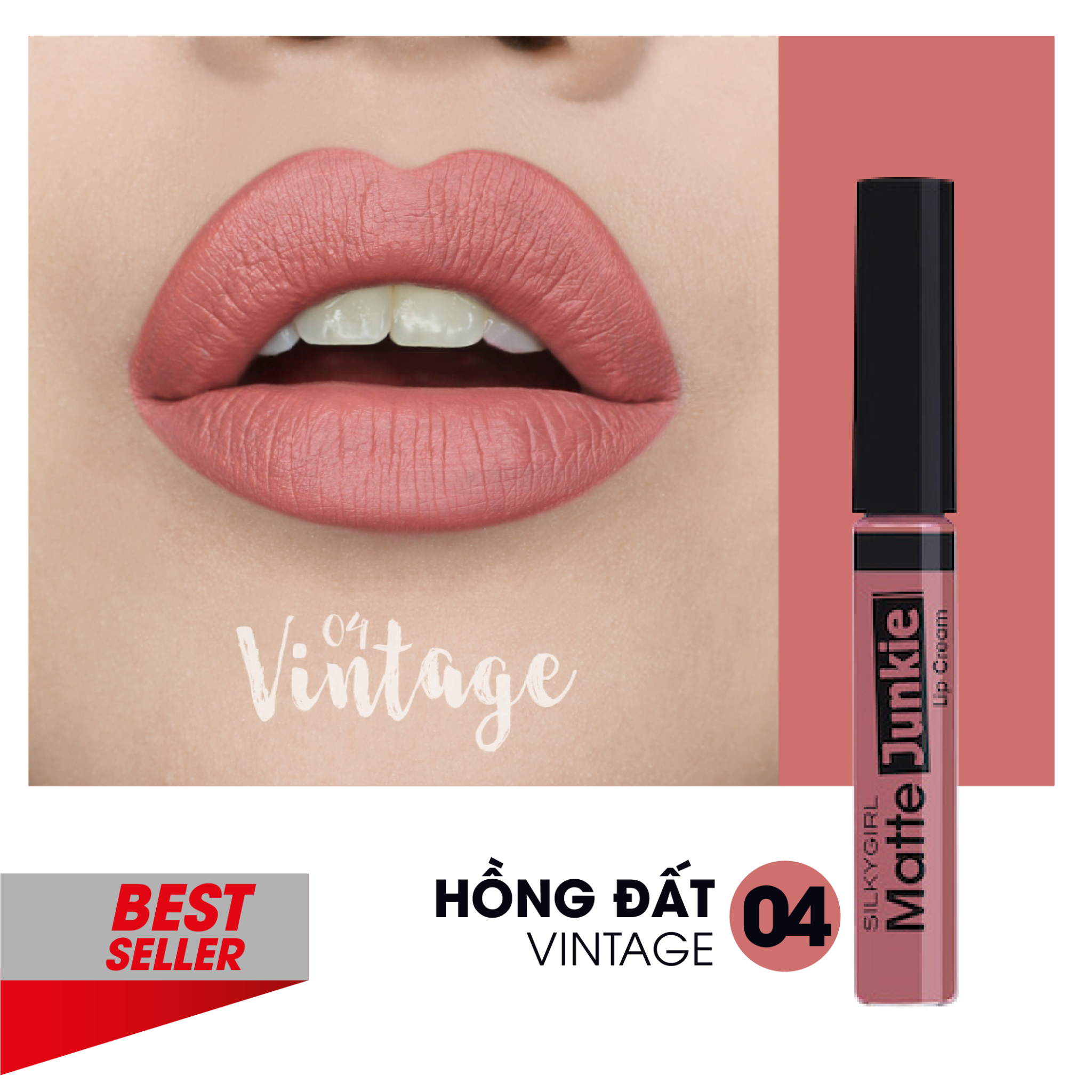 Son kem Silkygirl Matte Junkie Lip Cream - 07 Dolly