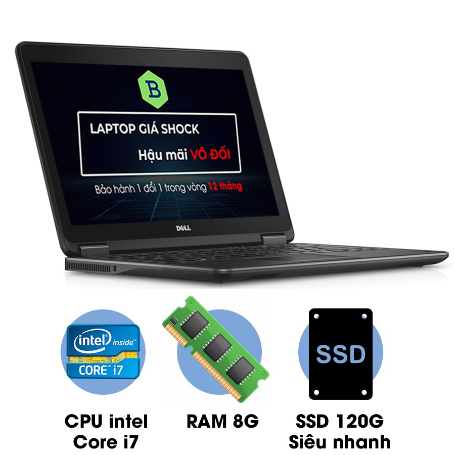Laptop cũ Dell Latitude E7440 Core i7-4600U