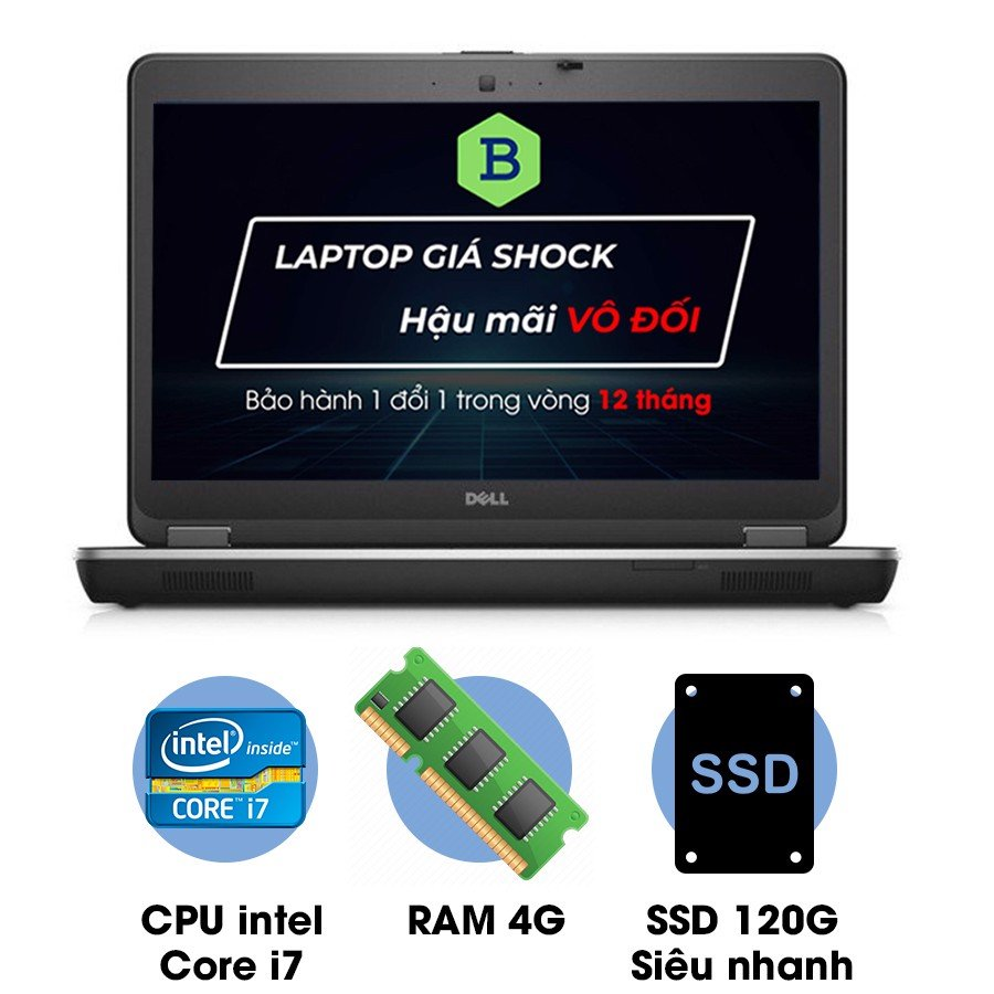 Laptop cũ Dell Latitude E6440 Core i7-4600M