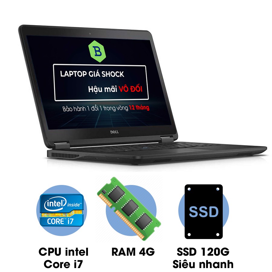 Laptop cũ Dell Latitude E7450 Core i7-5500U