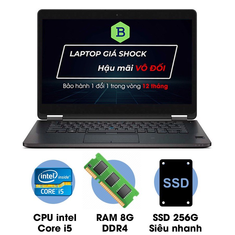 Laptop cũ Dell Latitude E7470 Core i5 6300U