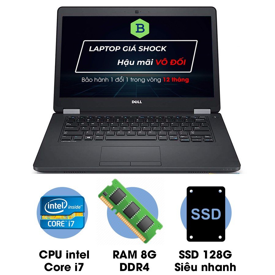Laptop cũ Dell Latitude E5470 Core i7-6600U