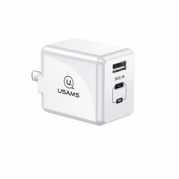 Củ sạc nhanh PD USAMS US-CC047 T4 Fast charging Travel Charge Chinese Standard