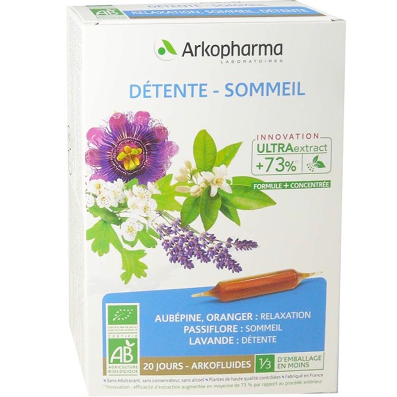 Arkofluides®  Desesteente – sommeil – Giảm căng thẳng ngủ ngon