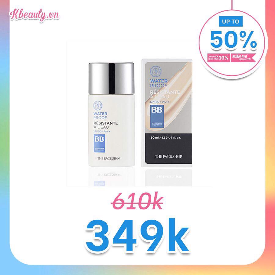 Kem nền đa năng The Face Shop WaterProof BB Cream SPF50 PA+++ 50ml