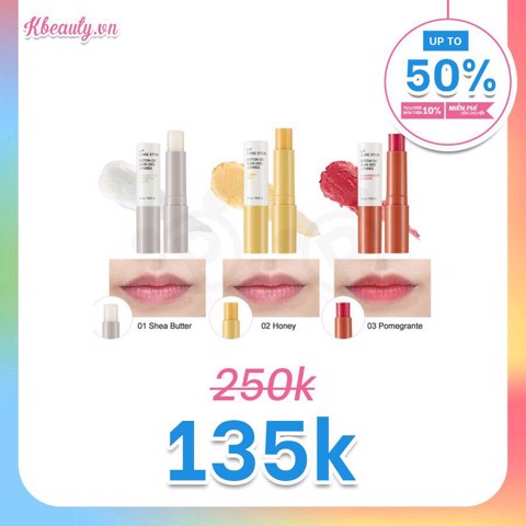 Son dưỡng môi Lựu The Face Shop Lip Care Stick 03 Pomegranate