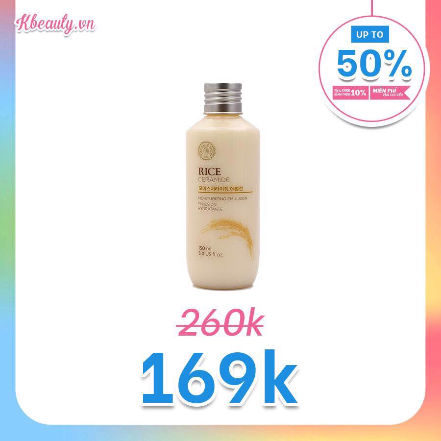 Sữa dưỡng gạo Rice Ceramide Moisturizing Emulsion The Face Shop 150ml