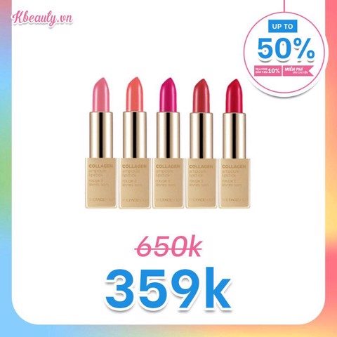 Son Thỏi Collagen Ampoule Lipstick The Face Shop