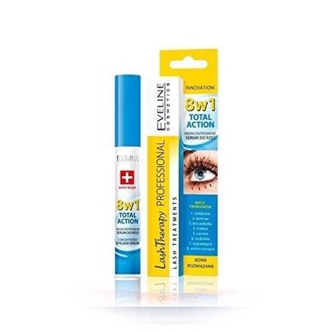 Eveline Cosmetics Multi Purpose Eyelash Serum Total Action 8in1, 10ml