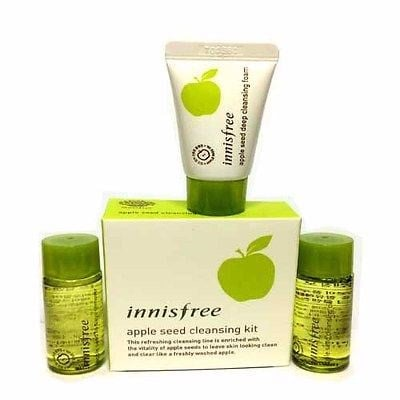 Kit tấy trang Innisfree Apple juice speical cleansing kit (3 items)
