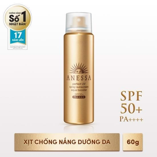Xịt chống nắng Anessa Perfect UV Sunscreen Skincare Spray - SPF50+, PA++++ - 60g