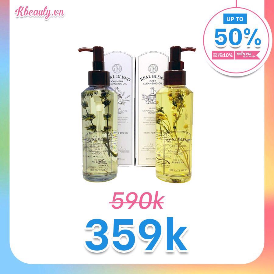 Dầu tẩy trang Real Blend Deep Cleansing Oil The Face Shop (225ml)
