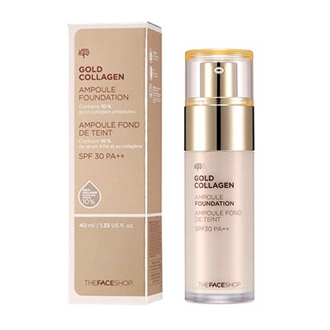 Kem nền Gold Collagen The Face shop Ampoule Foundation 40ml