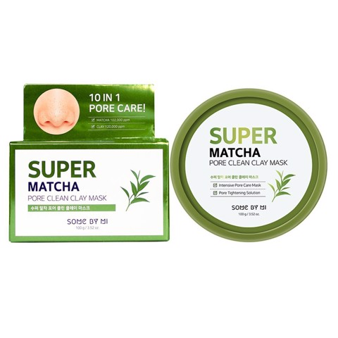 Mặt đất sét trà xanh Some By Mi Super Matcha Pore Clean Clay Mask 100g