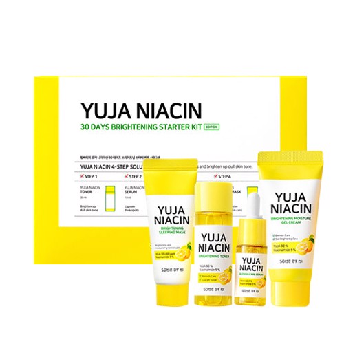 Set 4 Món Some By Mi Yuja Niacin 30 Days Brightening Starter Kit