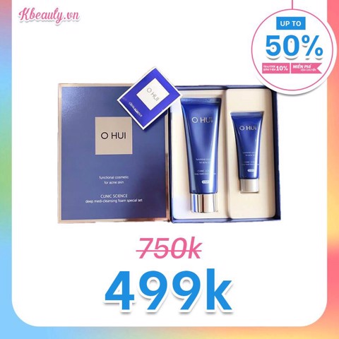 Sữa rửa mặt Ohui Clinic Science Deep Medi-Cleansing Foam (120ml + 40ml)