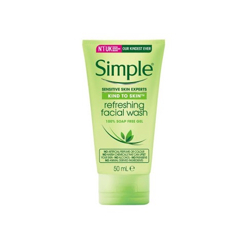 Sữa Rửa Mặt Cho Da Nhạy Cảm Simple Gel Kind To Skin Refreshing Facial Wash Gel