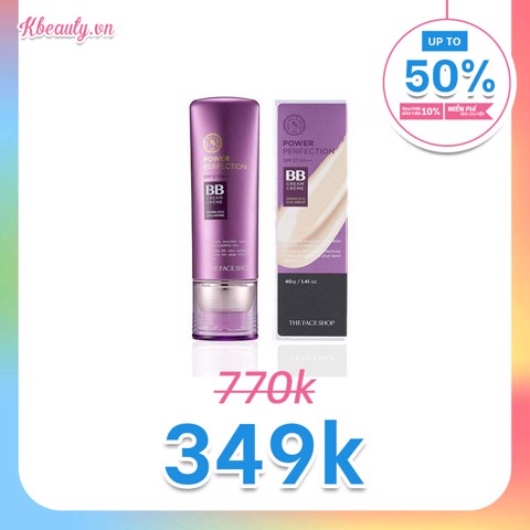 Kem nền BB tím The Face Shop Perfection BB cream