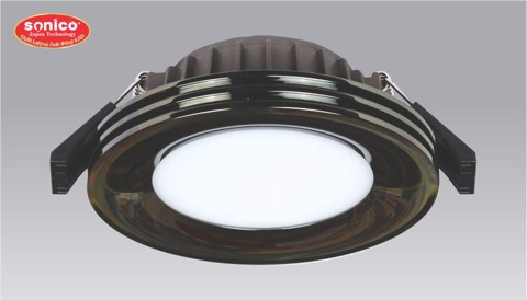 den downlight led am tran cao cap